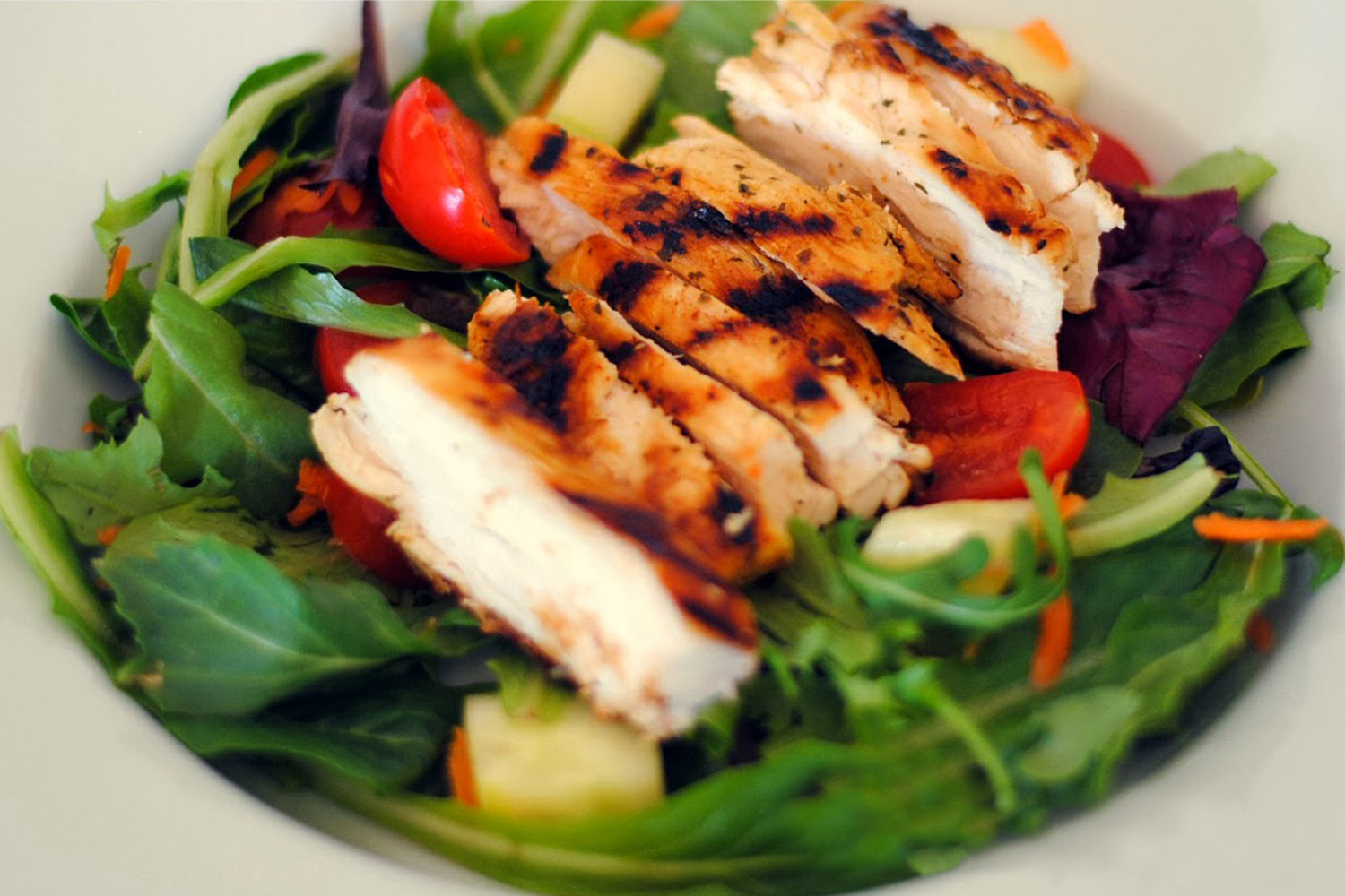 Grilled Chicken Salad With Cilantro Lime Vinaigrette