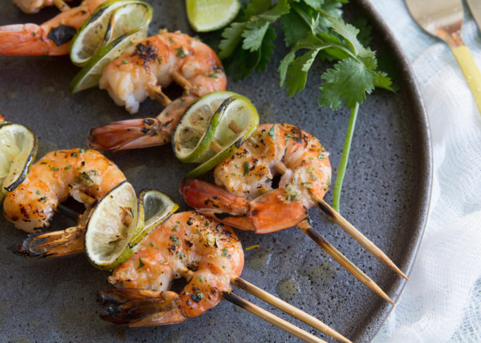Grilled Cilantro Lime Shrimp Kebabs, photo by Hispanic Kitchen