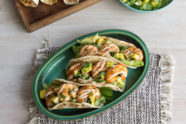 Grilled Shrimp Tacos With a Zesty Cream Sauce, photo by Hispanic Kitchen