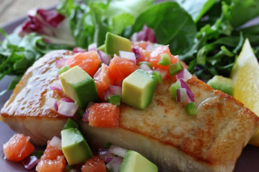 Mahi-Mahi With Hass Avocado and Red Grapefruit Salsa, photo by Fresh Avocados - Love One Today