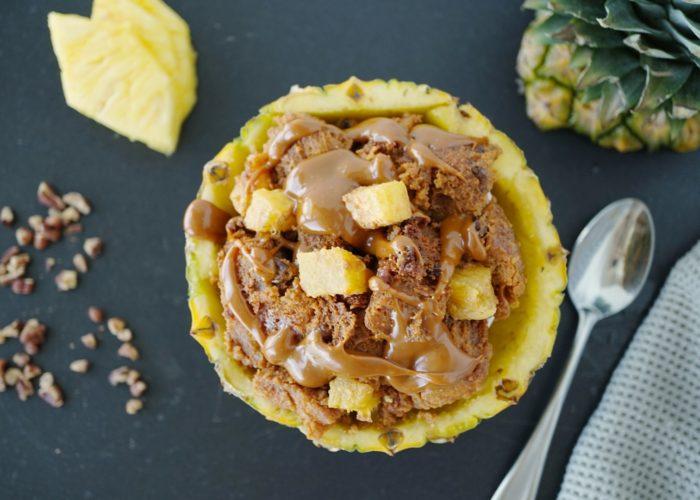 Pineapple Pecan Bread Pudding, photo by Sonia Mendez Garcia