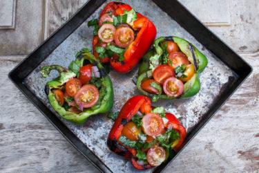 Vegetarian Stuffed Peppers, photo by Hispanic Kitchen