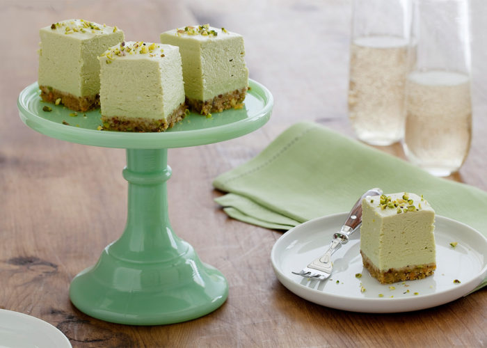 Avocado Cheesecake Bites With Pistachio Shortbread Crust, photo by Fresh Avocados - Love One Today