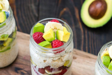 Avocado and Banana Overnight Oats