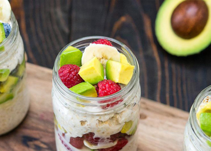 Avocado and Banana Overnight Oats, photo by Fresh Avocados - Love One Today