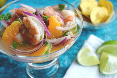Shrimp and Mandarin Orange Ceviche, photo by Suellen Pineda, RDN, CDN