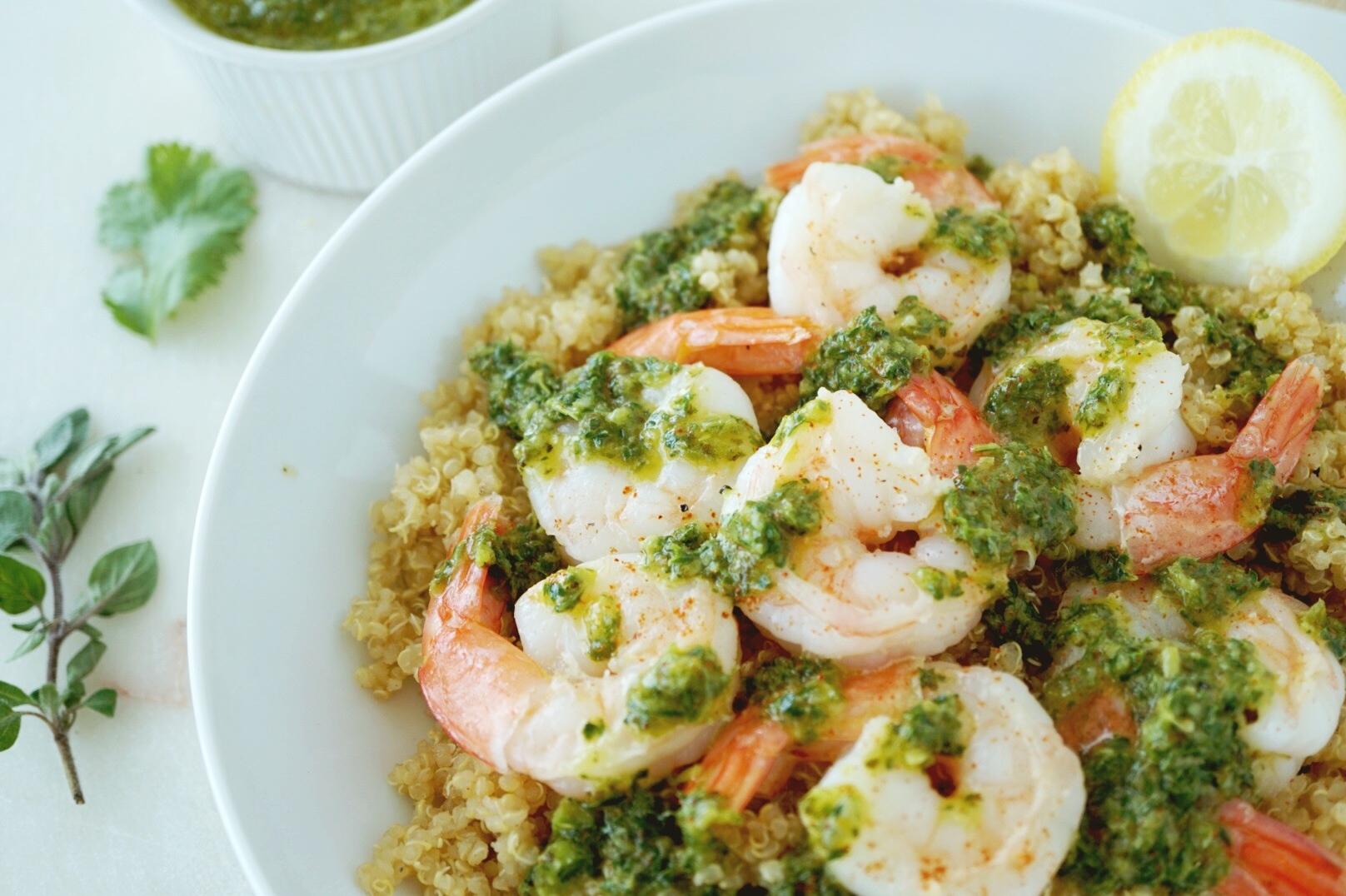 Chimichurri Shrimp With Quinoa