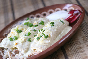 Family-Favorite Enchiladas Verdes, photo by Hispanic Kitchen