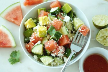 Watermelon Avocado Salad, photo by Cheryl Wiwat