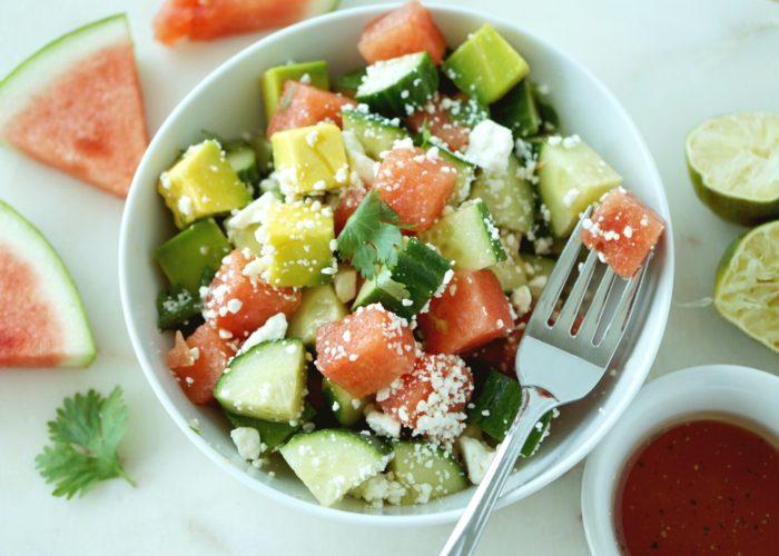 Watermelon Avocado Salad, photo by Cheryl Wiwat