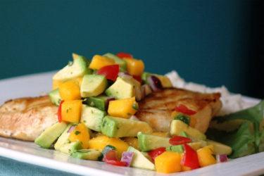Avocado and Mango Topper Salsa