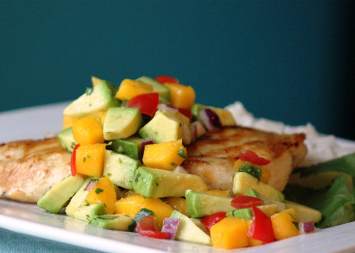 Avocado and Mango Topper Salsa, photo by Fresh Avocados - Love One Today