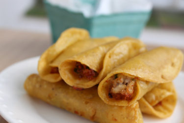 Chicken Flautas, photo by Sonia Mendez Garcia