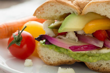 Avocado and Grilled Veggie Torta, photo by Fresh Avocados - Love One Today