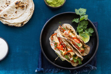 Fajitas de vegetales y tofu, photo by Hispanic Kitchen