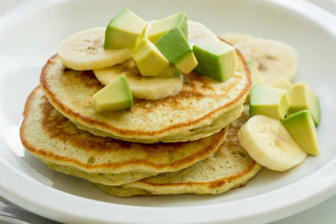 Avocado Banana Pancake Stacks, photo by Fresh Avocados - Love One Today