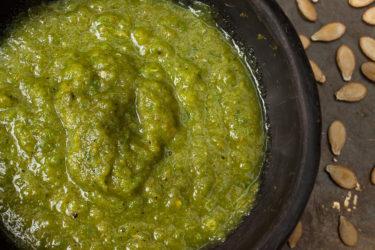 Pipián Verde (Pumpkin Seed Sauce)