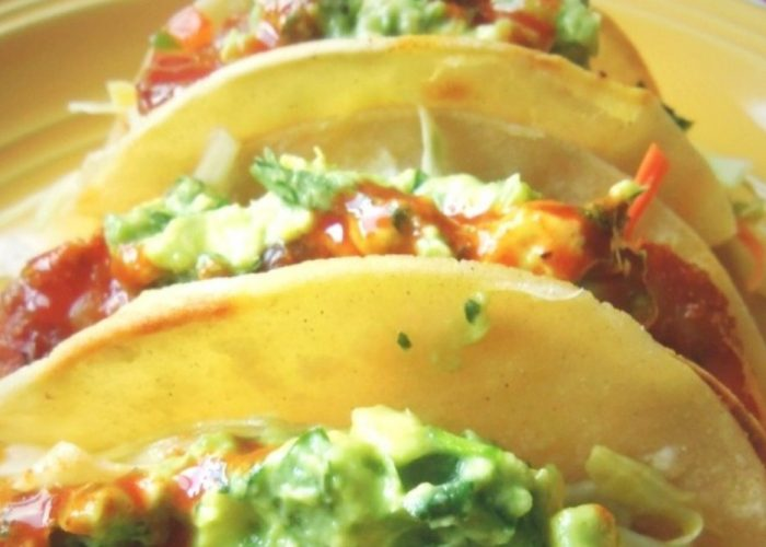 Achiote-Marinated Shrimp Tacos, photo by Sonia Mendez Garcia