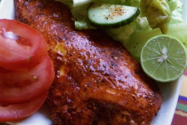 Annatto- and Citrus-Marinated Chicken, photo by Sonia Mendez Garcia