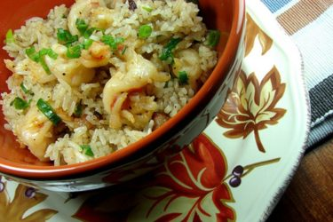 Arroz al Ajillo con Camarones, photo by Anamaris Cousins Price