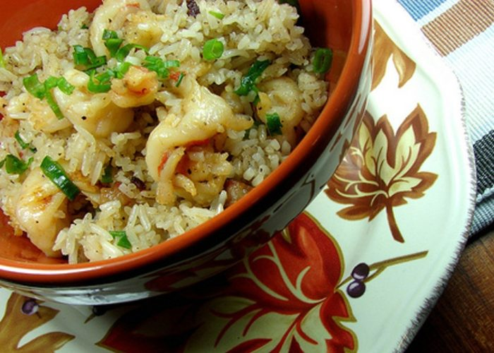 Arroz al Ajillo con Camarones (Garlic Rice With Shrimp), photo by Anamaris Cousins Price