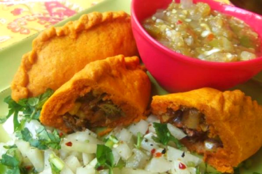 Beef and Vegetable Empanadas Infused With Annatto