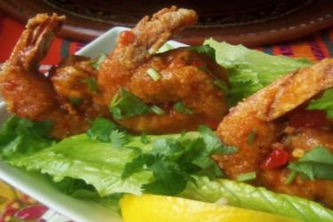 Buffalo Crispy Shrimp, photo by Sonia Mendez Garcia
