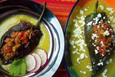 Stuffed Chile Ancho and Poblano Peppers