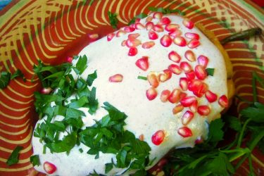 Chiles en Nogada with Creamy Pecan Sauce, photo by Sonia Mendez Garcia