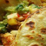 Fish and Shrimp Tacos with Jicama Pineapple Salsa