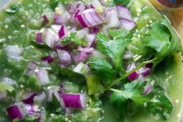 Fresh Tomatillo Jalapeño Salsa