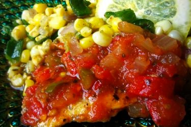 Pan-Seared Fish in a Tomato Salsa, photo by Sonia Mendez Garcia