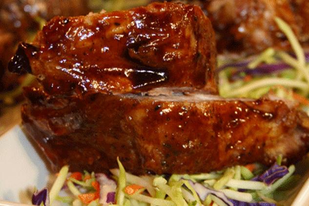 Pork Ribs In Mango Sauce