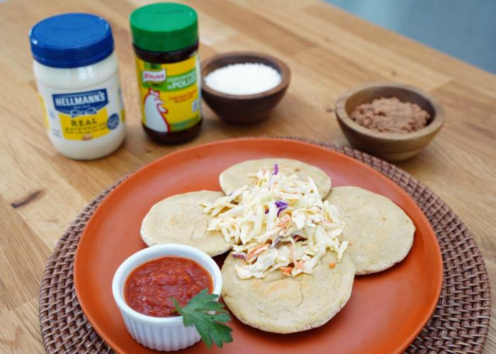 Salvadorian Pupusas (Stuffed Masa Cakes), photo by Hispanic Kitchen