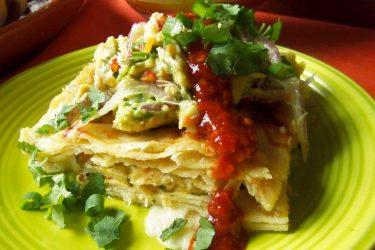 Seafood Enchilada Casserole
