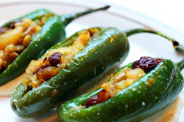 Shrimp-Stuffed Jalapeño Peppers with Honey Vinaigrette, photo by Hispanic Kitchen