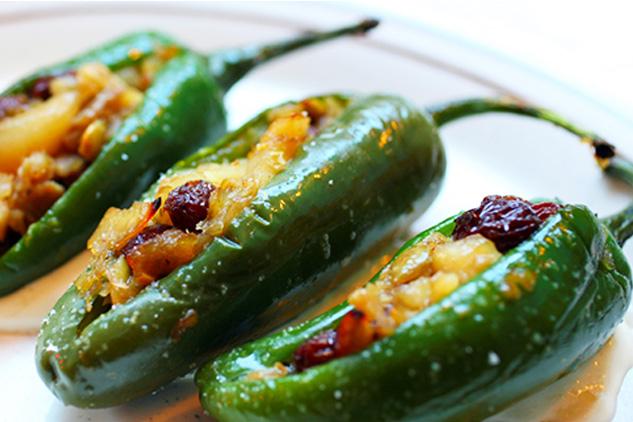 Shrimp-Stuffed Jalapeño Peppers with Honey Vinaigrette, photo by Hispanic Kitchen