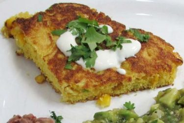 Skillet Jalapeño Corn Cake Wedges, photo by Hispanic Kitchen