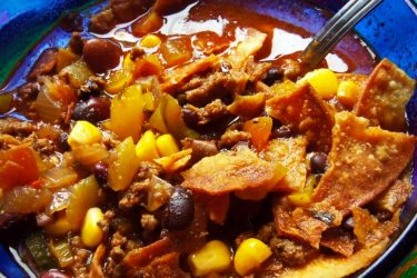 Southwestern Hamburger Soup, photo by Sonia Mendez Garcia