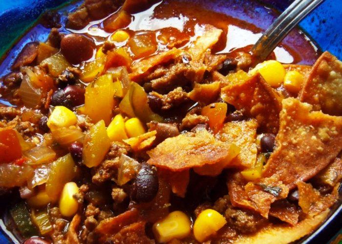 Southwestern Hamburger Soup, photo by Sonia Mendez Garcia