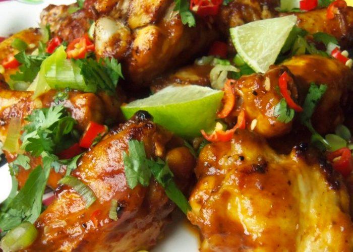 Crispy Chile Chicken Wings in Zesty Tamarind Sauce Recipe