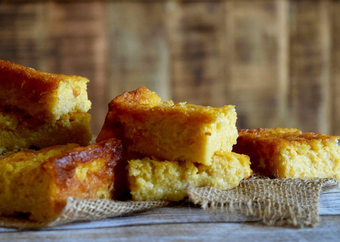 Lower-Cal Pan de Elote (Cornbread), photo by Suellen Pineda, RDN, CDN