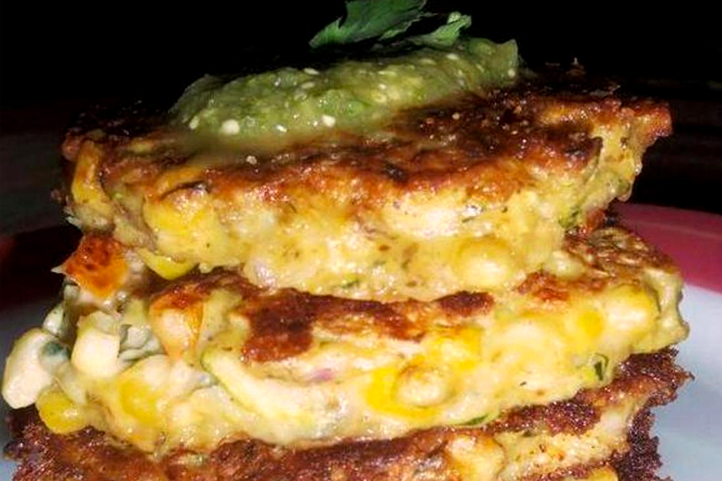 Corn Cilantro Cakes With Roasted Zucchini Salsa Recipe ...