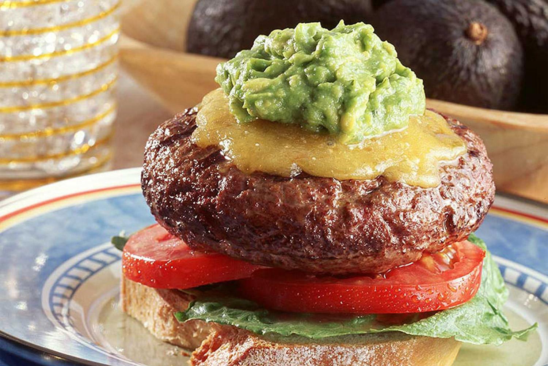 Avocado Ranch Burgers With Smoked Cheddar