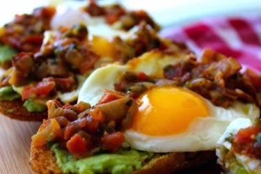 Warm Bacon Salsa Avocado Toast, photo by Sonia Mendez Garcia