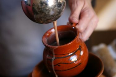 Champurrado (Thickened Mexican Hot Chocolate Drink), photo by Yvette Marquez-Sharpnack