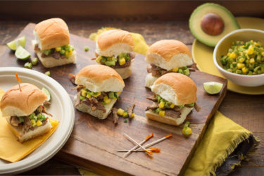 Mini Carnitas Sliders With Golden Avocado Salsa, photo by Fresh Avocados - Love One Today
