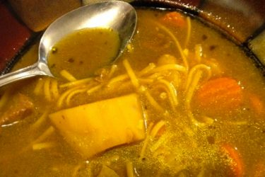 Sopa de Res con Fideos (Puerto Rican Beef Noodle Soup), photo by Hispanic Kitchen