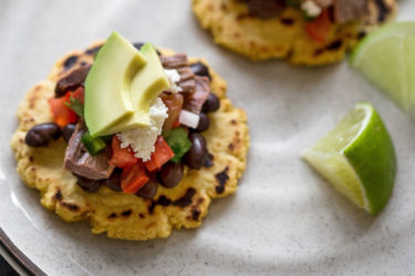 Mini Sopes With Carne Asada, Avocado and Queso Fresco, photo by Fresh Avocados - Love One Today