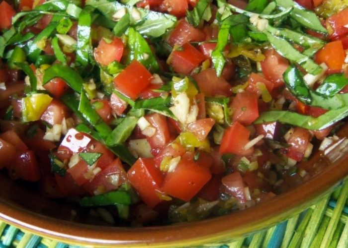 Spicy Salsa Topping for Bruschetta, photo by Sonia Mendez Garcia